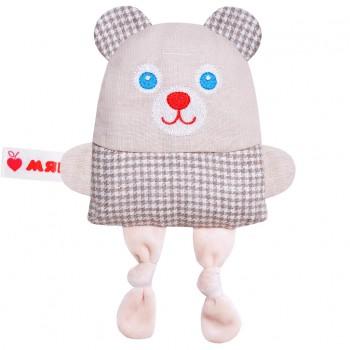Игрушка грелка с вишневыми косточками Крошка Мишка