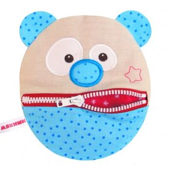 Игрушка грелка с вишневыми косточками Медведь Болтун