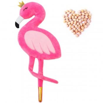 Игрушка грелка с вишневыми косточками Фламинго