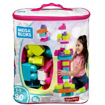 Конструктор Mega Bloks 80 деталей розовый DCH62