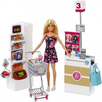 Игровой набор Barbie Супермаркет FRP01