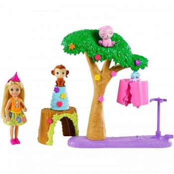 Набор Barbie Вечеринка Челси с питомцами в Джунглях GTM84