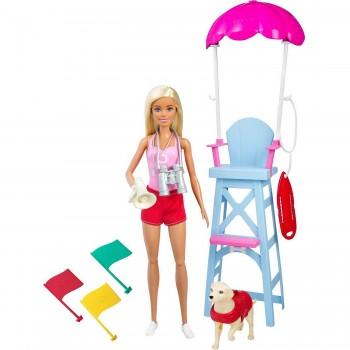 Набор Barbie Пляжный спасатель с питомцем GTX69