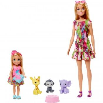 Набор Barbie День Рождения Челси и Барби с животными GTM82