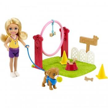 Набор Barbie Челси Дрессировщик собак GTN62