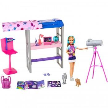 Набор Barbie Космос Спальня Стейси с телескопом GTW33