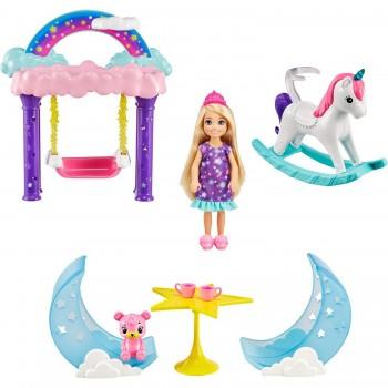 Набор Barbie Вечеринка с ночевкой Челси GTF50