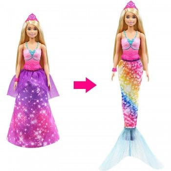 Кукла Barbie Dreamtopia 2в1 Принцесса Русалочка GTF92