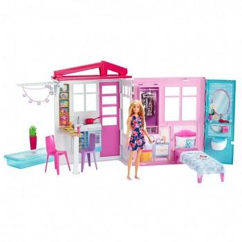 Складной переносной домик Барби с куклой FXG55