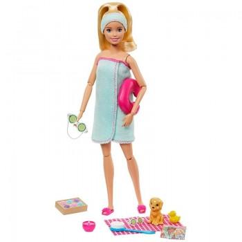 Кукла Барби со щенком Релакс Спа