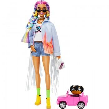 Кукла Барби Экстра с радужными волосами GRN29