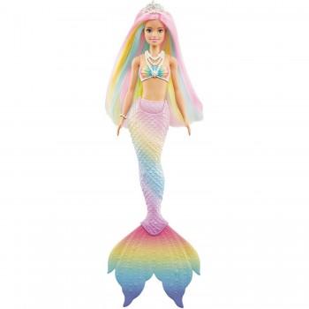Кукла Barbie Русалочка с разноцветными волосами GTF89