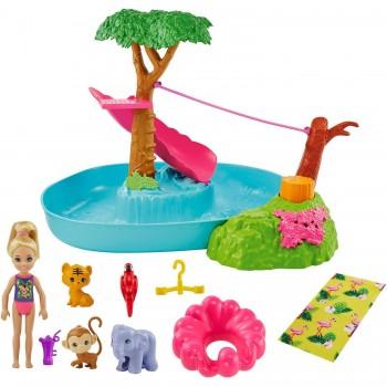 Набор Barbie Челси Бассейн в джунглях GTM85