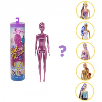 Кукла-сюрприз Барби Color Reveal серия 5 Шиммер GTR93