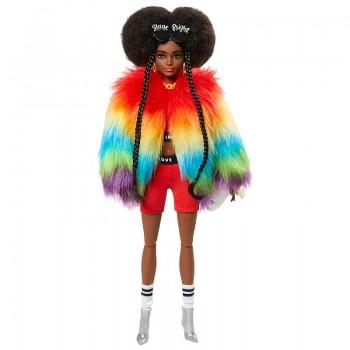 Кукла Барби Экстра в радужном пальто GVR04