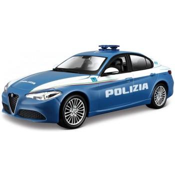 Коллекционная машинка Альфа Ромео Джулия Полиция Bburago 1:24