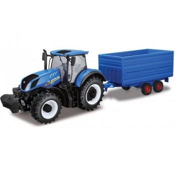 Модель трактора Нью Холланд с прицепом 1:32 Bburago 18-44067