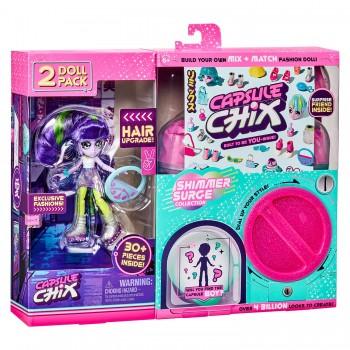 Набор из 2 кукол Capsule Chix МегаБлеск вариант 1