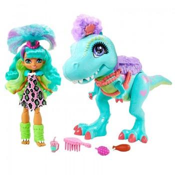 Набор Cave Club кукла Рокелл и тиранозавр GTL69