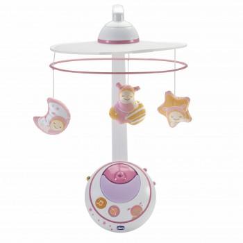 Мобиль-проектор Chicco Волшебные звёзды розовый