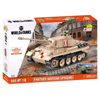 Конструктор Cobi World of Tanks Танк Panther Warsaw Uprising