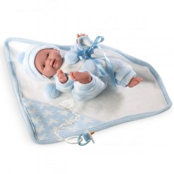 Кукла Llorens Пупс с голубым одеялом, 26 см
