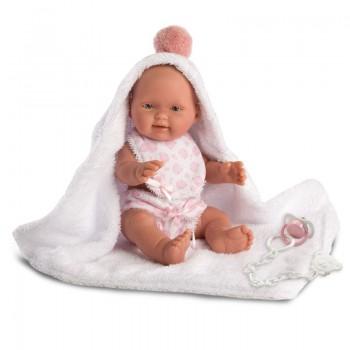 Кукла Llorens Пупс в розовом халате, 26 см