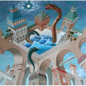 Деревянный пазл Davici Купание разноцветного дракона