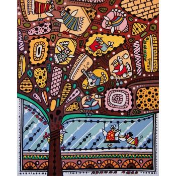 Деревянный пазл Davici Из жизни птичек