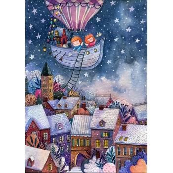 Деревянный пазл Davici Рождественские истории