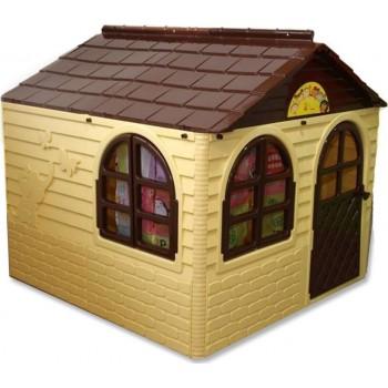 Детский пластиковый домик Doloni № 2 бежевый