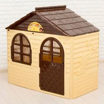Детский пластиковый домик Doloni № 1 бежевый