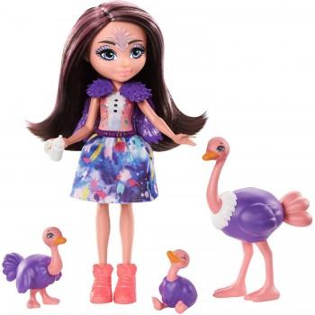 Кукла Enchantimals Офелия Страусси с семьей GTM32