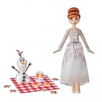 Кукла Холодное сердце 2 Анна пикник с Олафом F1583