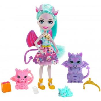 Кукла Enchantimals Дина Дракон GYJ09