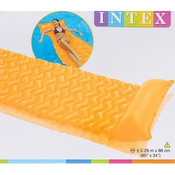 Надувной матрас для плавания Intex 58807EU 229х86см с подголовником