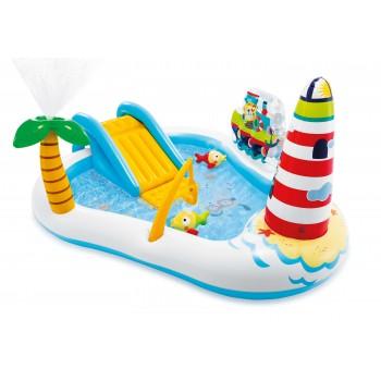 Детский надувной игровой центр Intex 57162 Веселая рыбка 218х188х99 см