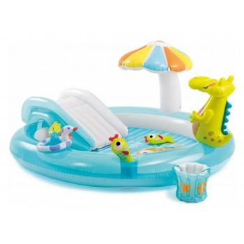 Детский надувной игровой центр Intex 57165 Крокодил 201x170x84 см