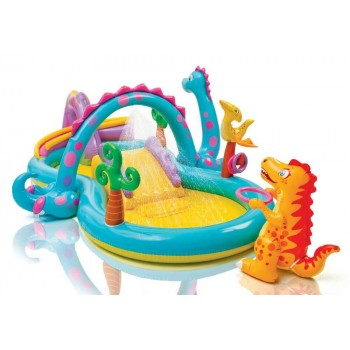 Детский надувной игровой центр Intex 57135 Диноленд 333 х 229 х 112 см