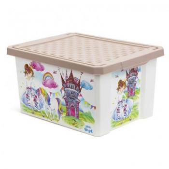 Ящик для игрушек Little Angel Сказочная принцесса 17л
