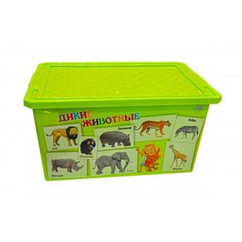 Ящик для игрушек Little Angel Животные 57л