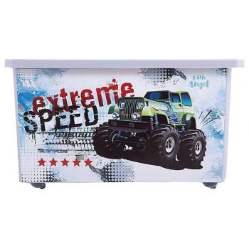 Ящик для игрушек Little Angel Супер Трак 57л
