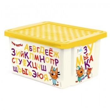 Ящик для игрушек Little Angel Три кота Читай 17л