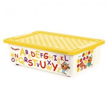 Ящик для игрушек Little Angel Три кота Читай 30л
