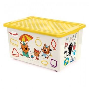 Ящик для игрушек Little Angel Три кота Читай 57л