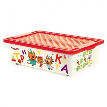 Ящик для игрушек Little Angel Три кота Счет 30л
