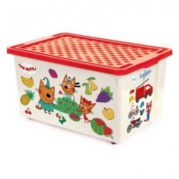 Ящик для игрушек Little Angel Три кота Счет 57л