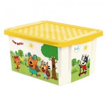 Ящик для игрушек Little Angel Три кота Игры 17л