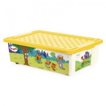 Ящик для игрушек Little Angel Три кота Игры 30л