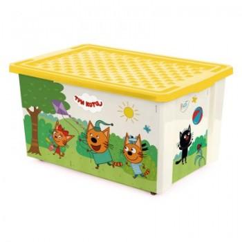Ящик для игрушек Little Angel Три кота Игры 57л